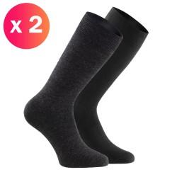 Lot de 2 chaussettes Impetus - gris et noir - IMPETUS P702004-H86
