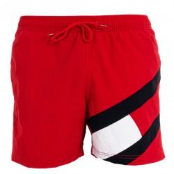 Short de bain moulant mi-long à drapeau - rouge - TOMMY HILFIGER UM0UM02048-XLG