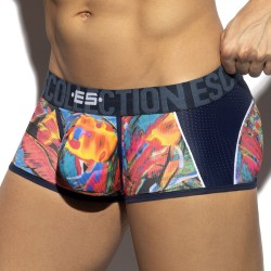Trunk Floral mesh - marine - ES COLLECTION UN418-C09