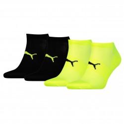 Lot de 2 paires de chaussettes Performance Train Light - jaune et noir - PUMA 271003001-385