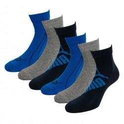 Lot de 3  paires de chaussettes PUMA Graphic - navy gris et bleu - PUMA 261091001-523