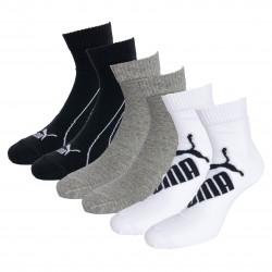 Lot de 3  paires de chaussettes PUMA Graphic - blanc gris et noir - PUMA 261091001-325
