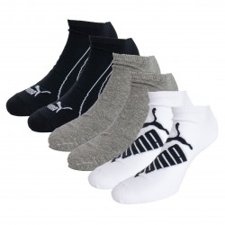 Lot de 3 paires de socquettes PUMA Graphic - blanc gris et noir - PUMA 261090001-325