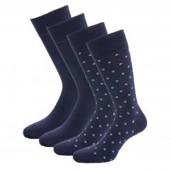 Lot de 2 paires de chaussettes à pois - navy - TOMMY HILFIGER 100002654-004