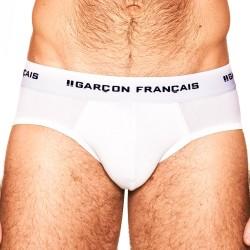 Slip blanc Indispensable - GARÇON FRANÇAIS SLIP19 BLANC PACK