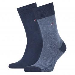 Lot de 2 paires de chaussettes texturées - navy - TOMMY HILFIGER 100002655-004