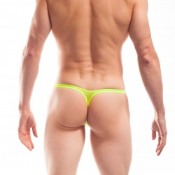 Mini Pushup string beach & underwear - jaune - WOJOER 320B15-Y