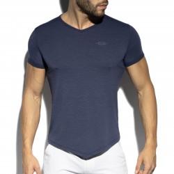 T-shirt col V FLAME - blanc - ES COLLECTION TS283-C09