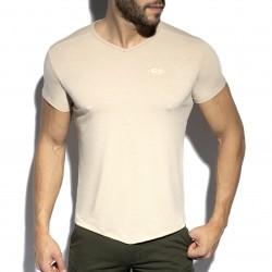 T-shirt col V FLAME - beige - ES COLLECTION TS283-C28
