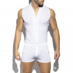 Sleeveless boysuit - blanc - ES COLLECTION SP257-C01