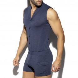 Sleeveless bodysuit - marine