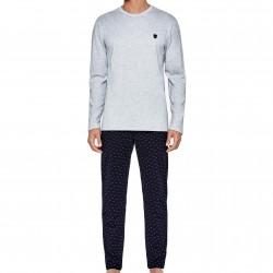 Pyjama long Eden Park - gris - EDEN PARK E501E76-169