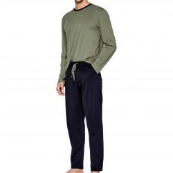 Pyjama Eden Park coton bio - kaki - EDEN PARK E501G59-K83