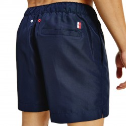 Short de bain mi-long à logo signature - bleu marine foncé - TOMMY HILFIGER UM0UM02060-DW5