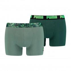 Lot de 2 boxeurs imprimé camouflage - vert - PUMA 701202499-004