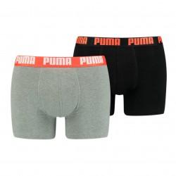 Boxer Basic - gris et noir (Lot de 2) - PUMA 521015001-305