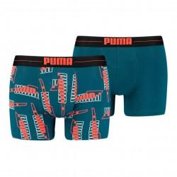 Lot de 2 boxeurs imprimé PUMA - bleu - PUMA 701202497-003