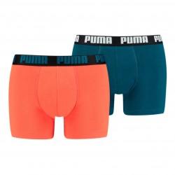 Boxer Basic - rouge et bleu (Lot de 2) - PUMA 521015001-302