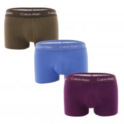 Lot de 3 boxers taille basse Cotton Stretch - violet, bleu et kaki - CALVIN KLEIN U2664G-WHF