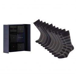5-Pack Gift Box Bird's Eye Socks - black - TOMMY HILFIGER 701210549-002