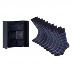 Coffret cadeau de 5 paires de chaussettes - navy - TOMMY HILFIGER 701210549-001