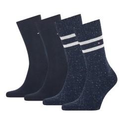 Lot de 2 paires de chaussettes à rayures - navy - TOMMY HILFIGER 701210539-002