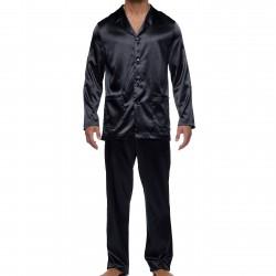 Pyjama Core Satin - noir - MODUS VIVENDI 21652-BLACK